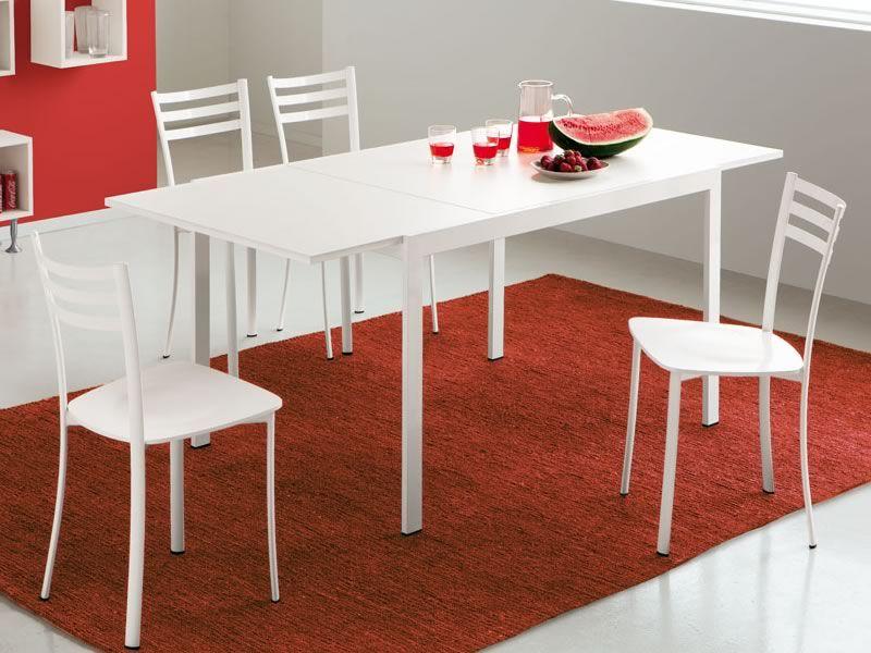 742 1 Table En M Tal Plan 85x120cm Rallonge Sediarreda