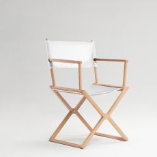 Treee Set Chair - Director chair, in solid wood, also for garden