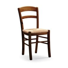 AV127 - Country-style chair in pine wood, several colours and seats, for restaurants