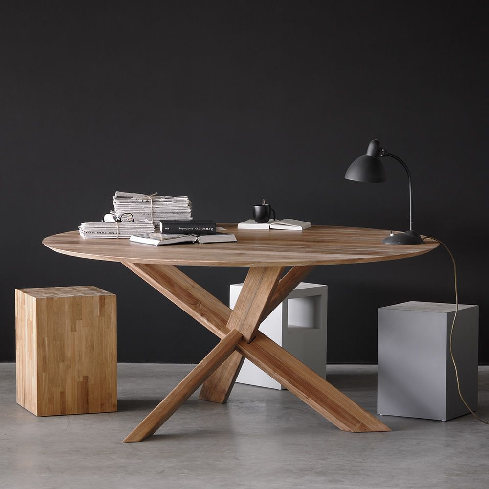 Circle mesa redonda ethnicraft de madera en distintos - Mesa de teca ...