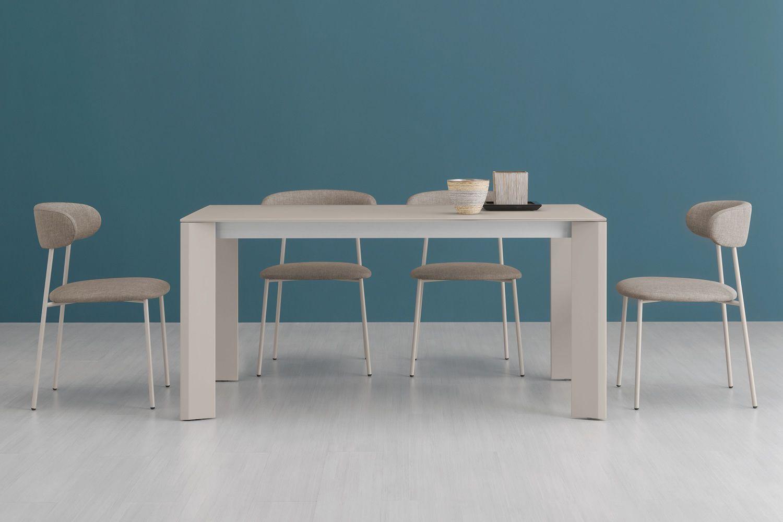 Neos 160   tavolo domitalia in metallo, con piano in vetro o ...