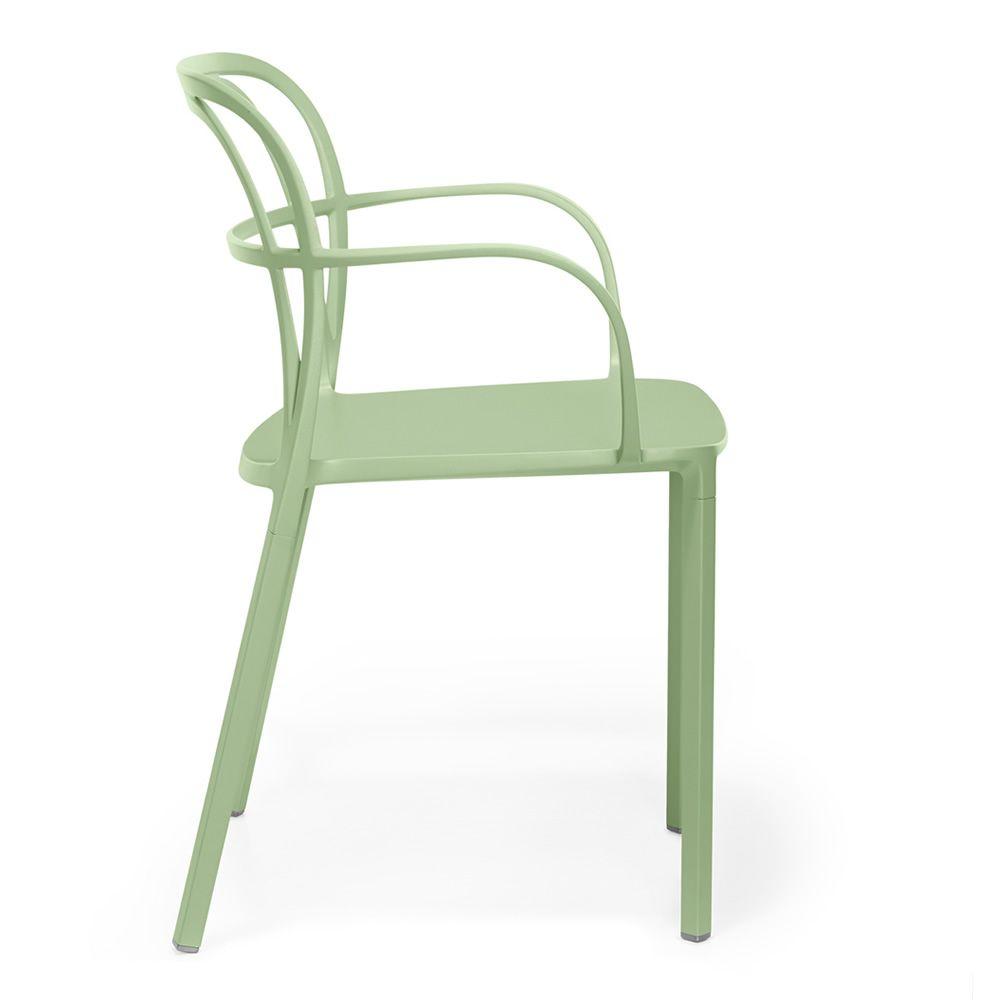 intrigo: pedrali armchair in aluminium, stackable, for outdoor use