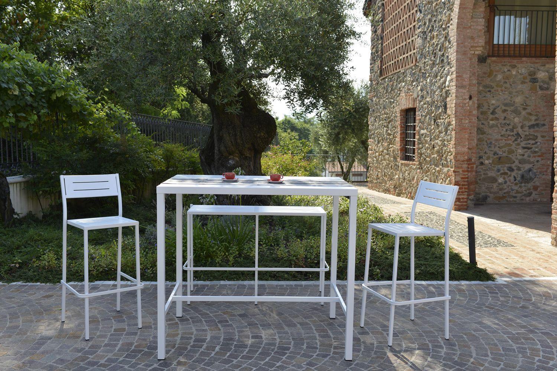 Rig72th tavolo alto in metallo diverse misure altezza 105 cm