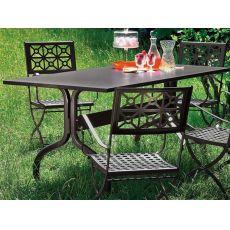 Achille 2701 - Tavolo da giardino in metallo, 160x85 cm