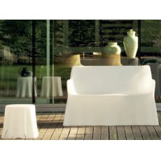 Phantom Divano - Domitalia sofa in polyethylene, different colours available, for outdoor