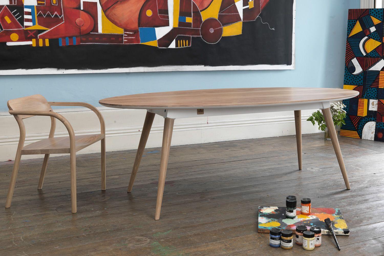 In s tavolo ovale in legno fisso 220x105 cm for Tavolo ovale calligaris