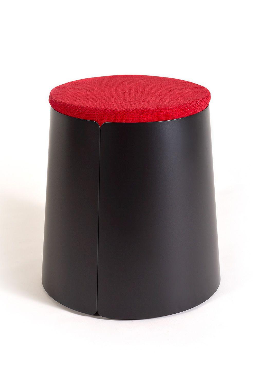 Bobino pouf pouf o mesita de centro c nica en metal con - Puff con ruedas ...