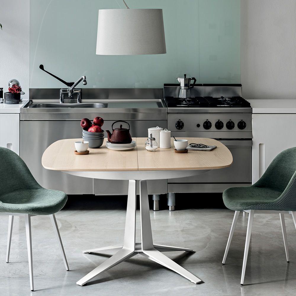 Link tavolo midj in metallo piano in impiallacciato o for Tavolo 70 x 120