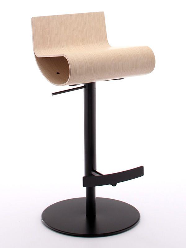 Gennup taburete de metal giratorio y de altura regulable asiento de madera multilaminada - Asientos para taburetes ...