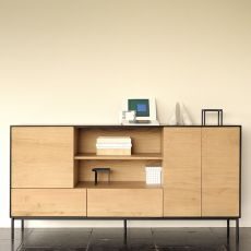 Blackbird - Ethnicraft wooden sideboard with doors and drawers