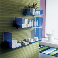 Osaka - Design shelf Bontempi Casa, made of glass of various colors, available in different sizes