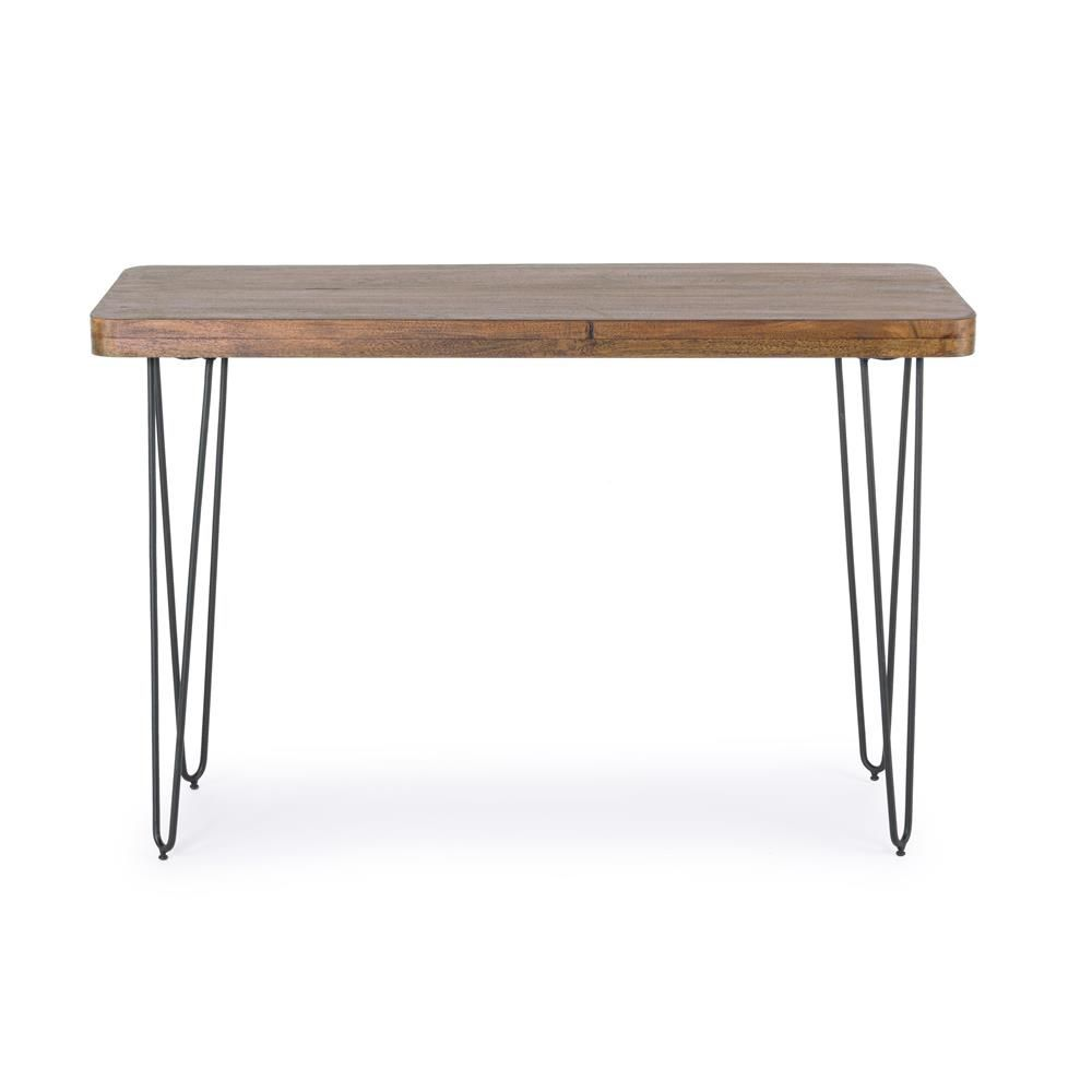 Vintage Console, 115x40 Cm, With Metal