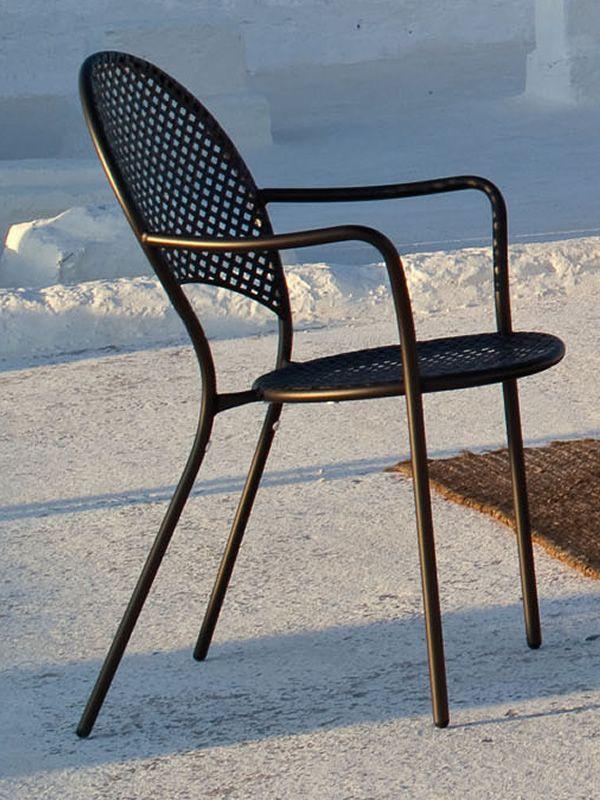 Sole p pour bars et restaurants fauteuil en m tal pour jardin empilable - Fauteuil jardin metal ...