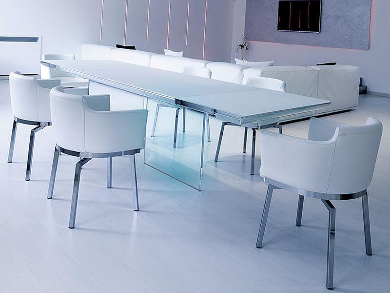 Plano tavolo moderno in vetro piano in cristallo 180x90 for Tavolo in cristallo moderno