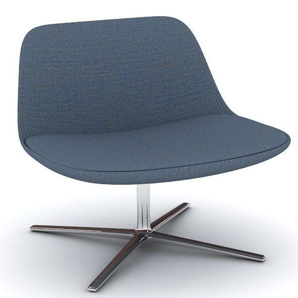 pure loop lounge drehbarer sessel infiniti aus metall mit sitz aus stoff leder oder. Black Bedroom Furniture Sets. Home Design Ideas