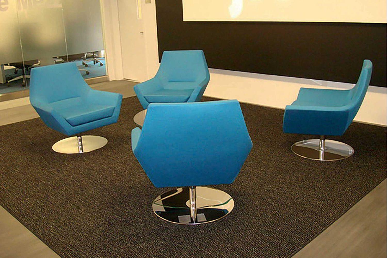 fly too fauteuil design de tonon structure en acier pivotant en cuir ou tissu disponible en. Black Bedroom Furniture Sets. Home Design Ideas