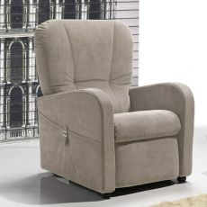 Petunia - Electric and adjustable relax armchair, different upholsteries and colours available, totally removable covering, different sizes, also with Roller system and massage kit