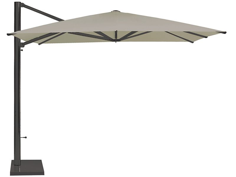 ... Shade   Garden Umbrella With Anodized Aluminium Structure In Antique  Iron Varnished And White Umbrella