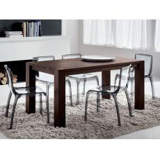 PA118 | Tavolo in legno con piano 160x90 cm o 185x90 cm, disponibile in diverse finiture