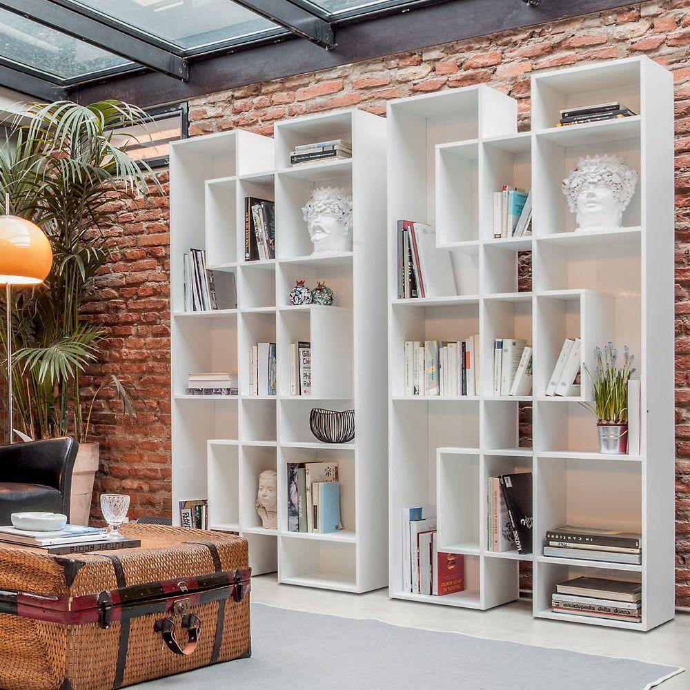 Abaco 7243 libreria tonin casa in legno diverse for Librerie pareti attrezzate