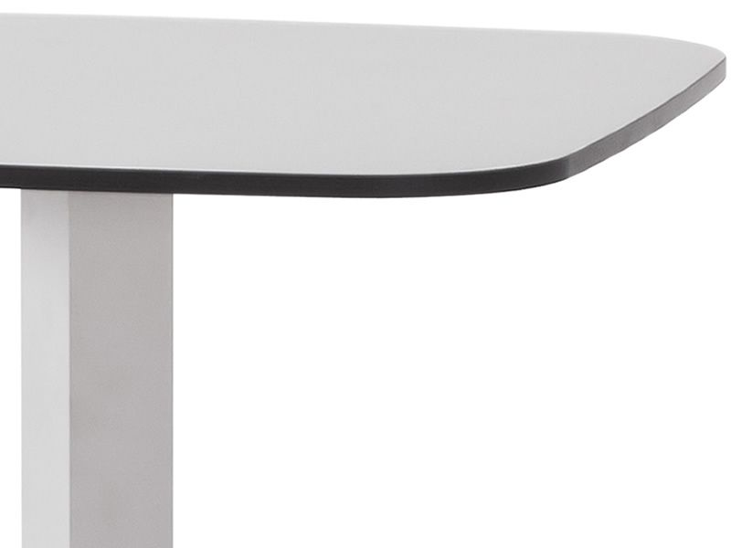 shine h pour bars et restaurants table haute en aluminium plan de travail carr 60x60 cm. Black Bedroom Furniture Sets. Home Design Ideas