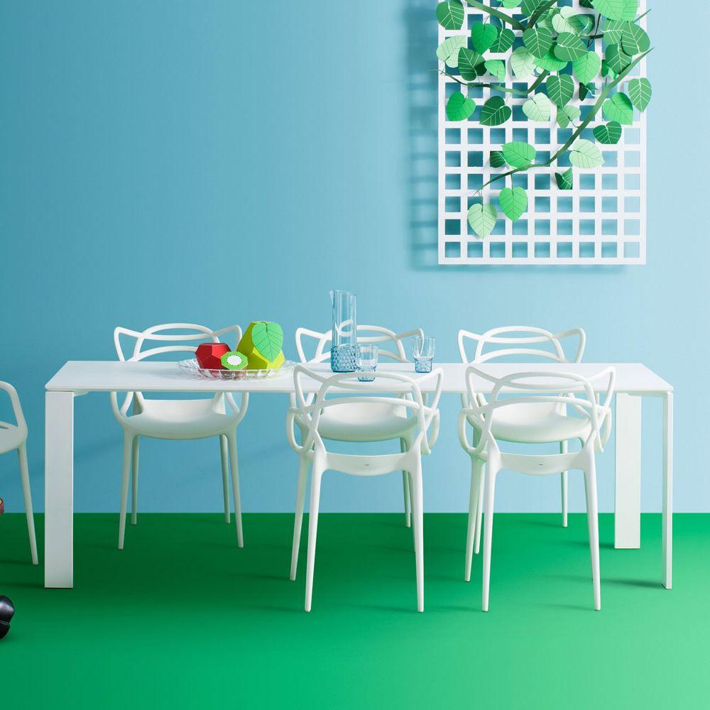 Kartell Tavoli Da Pranzo.Four Outdoor Tavolo Kartell Di Design Per Esterno In Acciaio