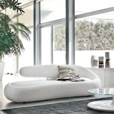 Duny 7380 - Divano di design Tonin Casa a 3 posti, rivestito in pelle o similpelle