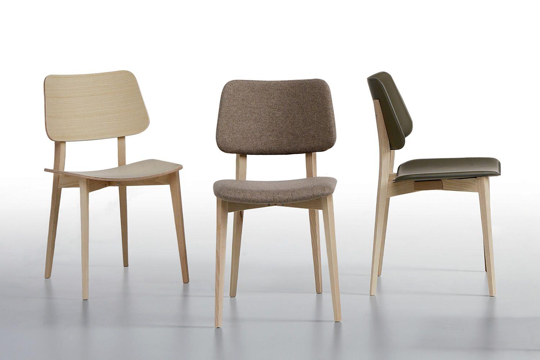 Joe l sedia midj in legno diversi rivestimenti sediarreda for Sedie design legno naturale