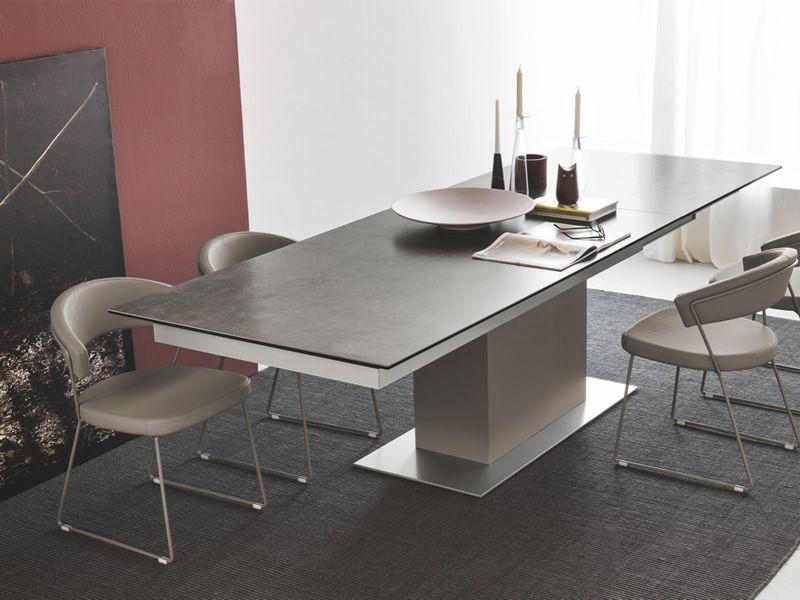 Cs4087 sincro table rallonge calligaris en bois for Table rallonge