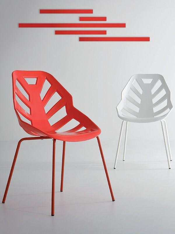 Ninja design stuhl aus metall und technopolymer for Design stuhl metall