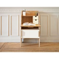 Origami-S - Ethinicraft wooden writing desk with doors and drawers in MDF, different colours available