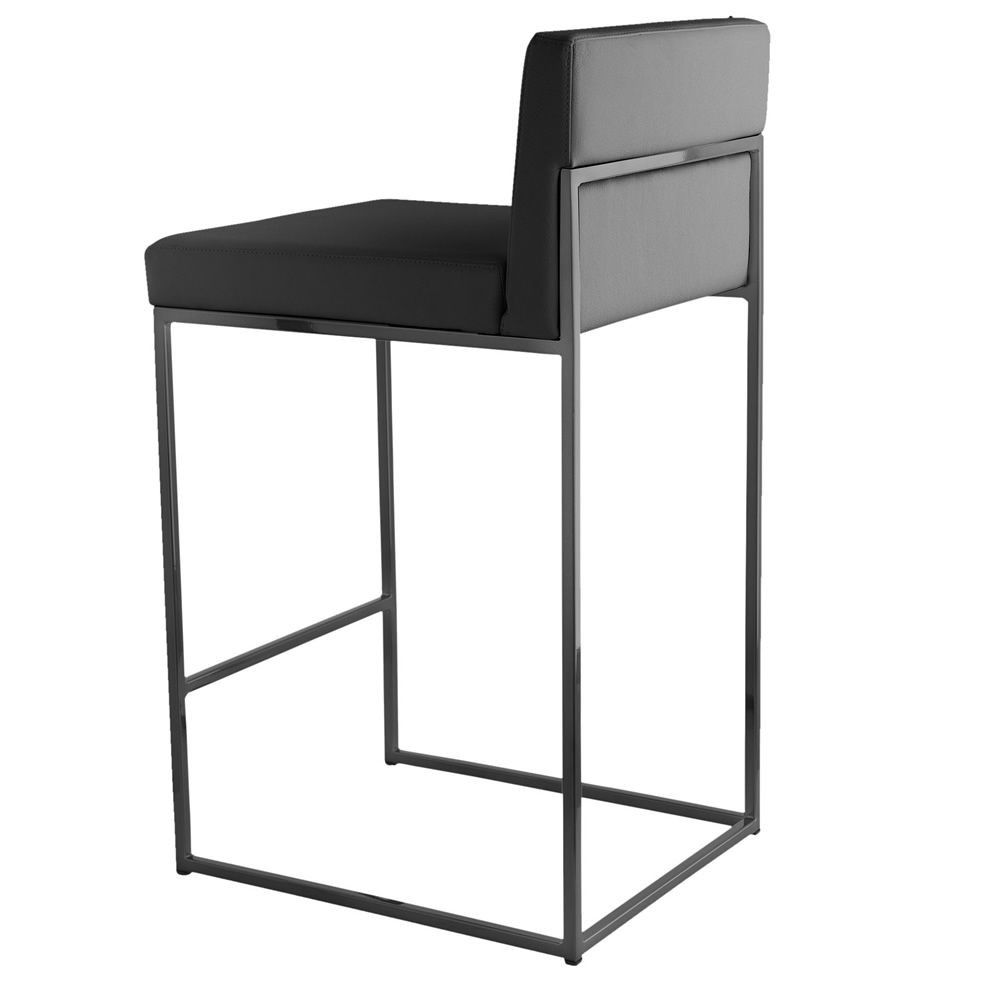 cs1296 lh even plus hocker calligaris aus metall mit sitz aus leder bezogen sitzh he 65 cm. Black Bedroom Furniture Sets. Home Design Ideas