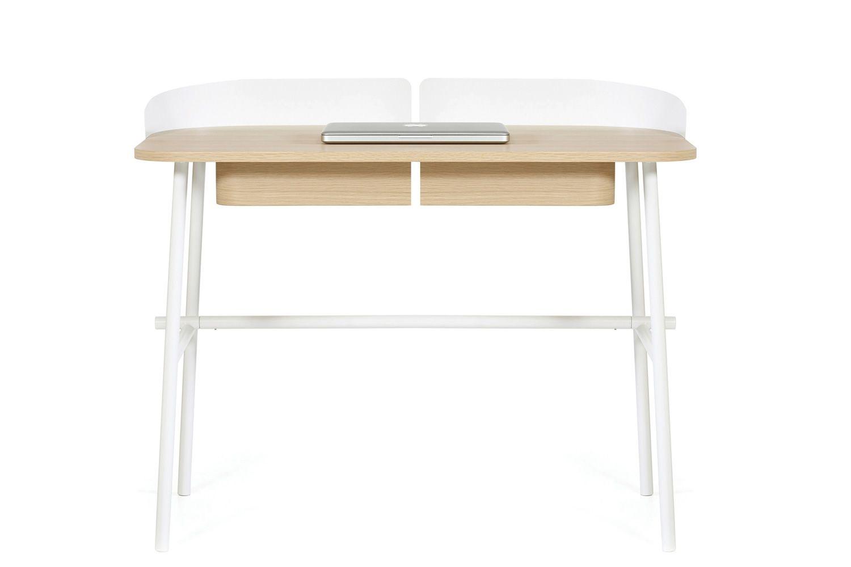 victor designer schreibtisch aus metall und holz mit. Black Bedroom Furniture Sets. Home Design Ideas