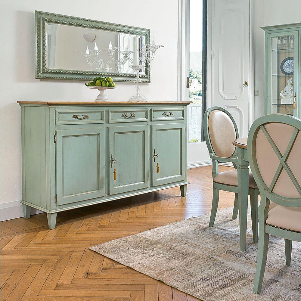 Namaka 1206 credenza classica tonin casa in legno con ante e cassetti diverse finiture - Faber mobili prezzi ...