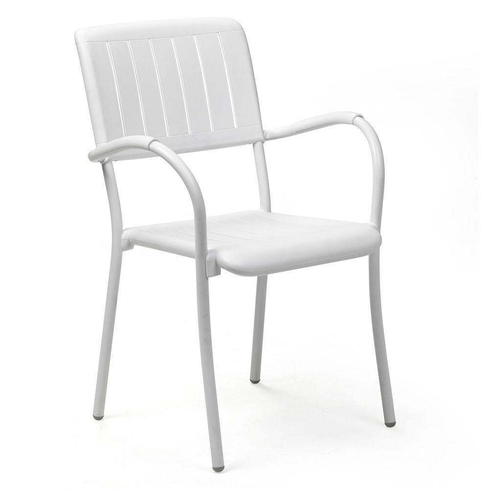 Musa fauteuil en m tal et r sine empilable diff rentes - Fauteuil pour jardin ...