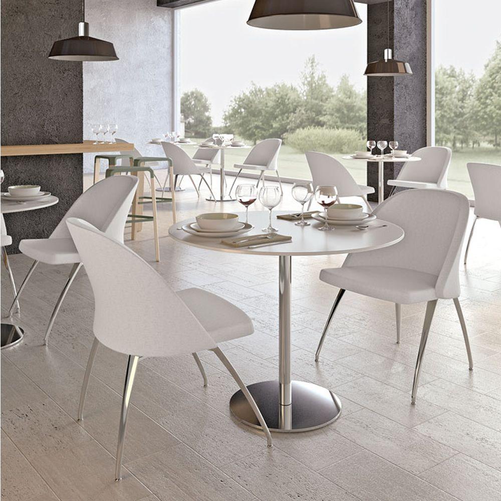 round per bar e ristoranti tavolo in metallo piano
