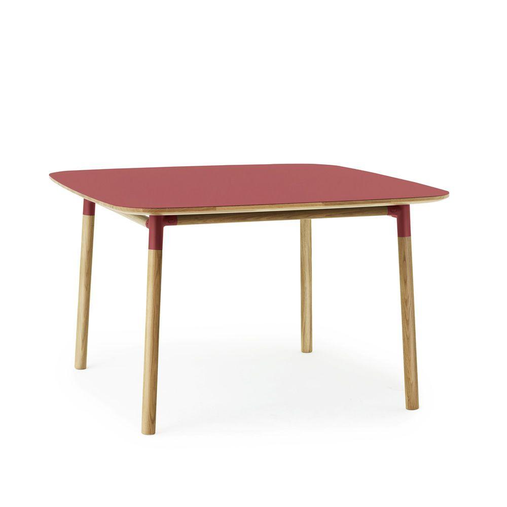 Form-T - Tavolo quadrato in legno di quercia con piano in laminato e ...