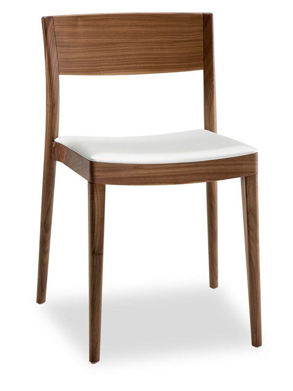 Miss: Silla design de Tonon, en madera con asiento acolchado y ...