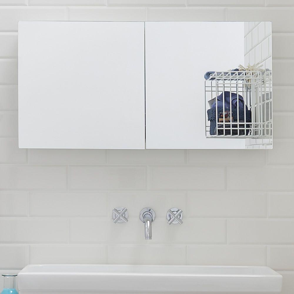 Acqua P | Specchio moderno abbinato al mobiletto bagno Acqua e Sapone B