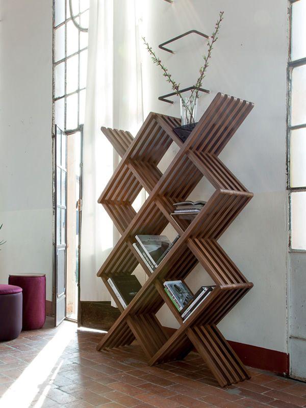 Arpa 7326   libreria di design tonin casa in legno massello ...