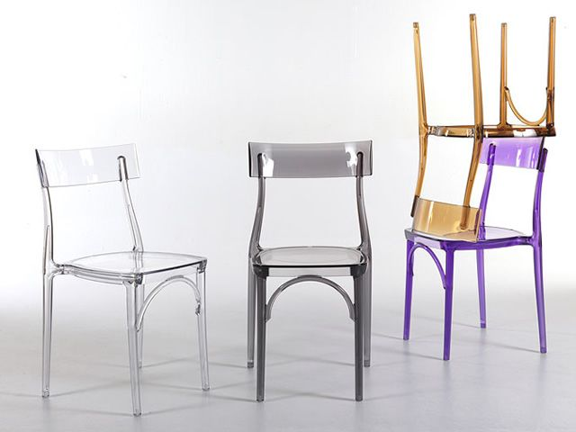 Milano 2015 stuhl colico aus transparentem polycarbonat for Design stuhl milano echtleder