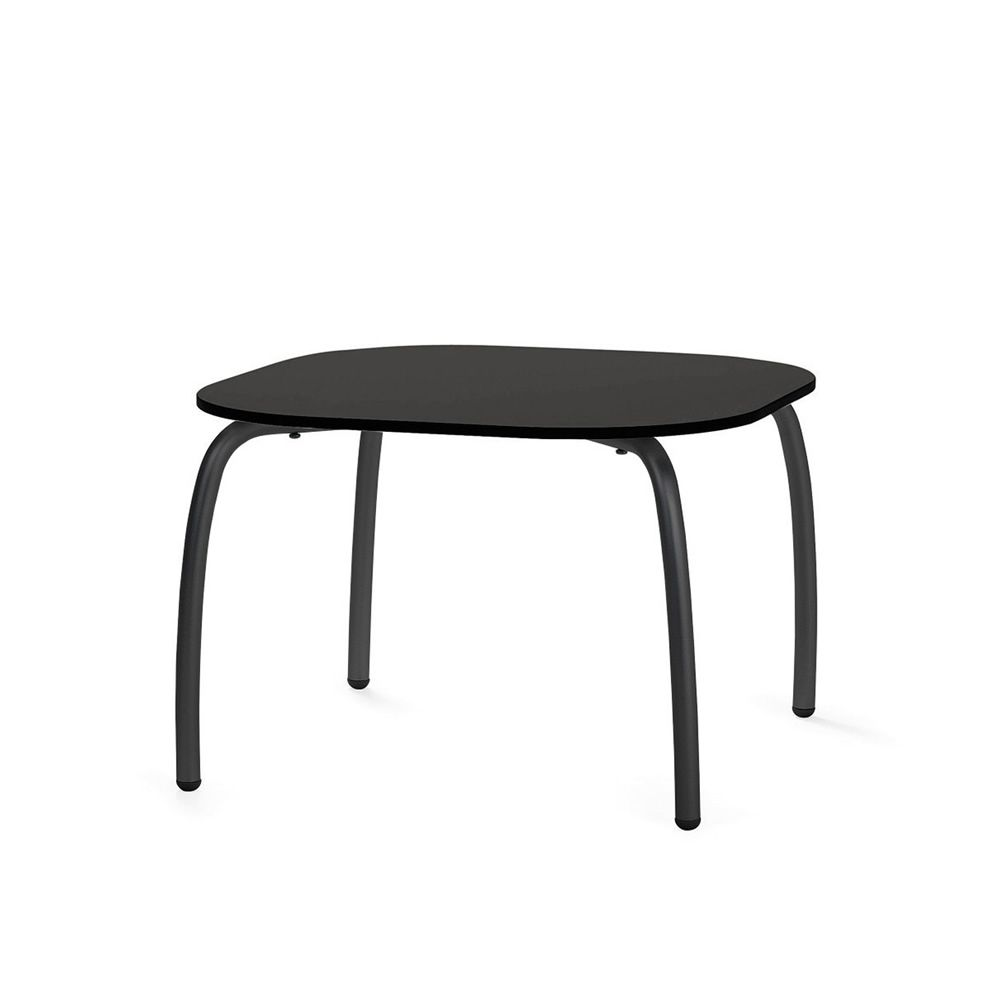 loto relax 60 petite table en m tal plan de travail carr 60x60 cm aussi pour le jardin. Black Bedroom Furniture Sets. Home Design Ideas