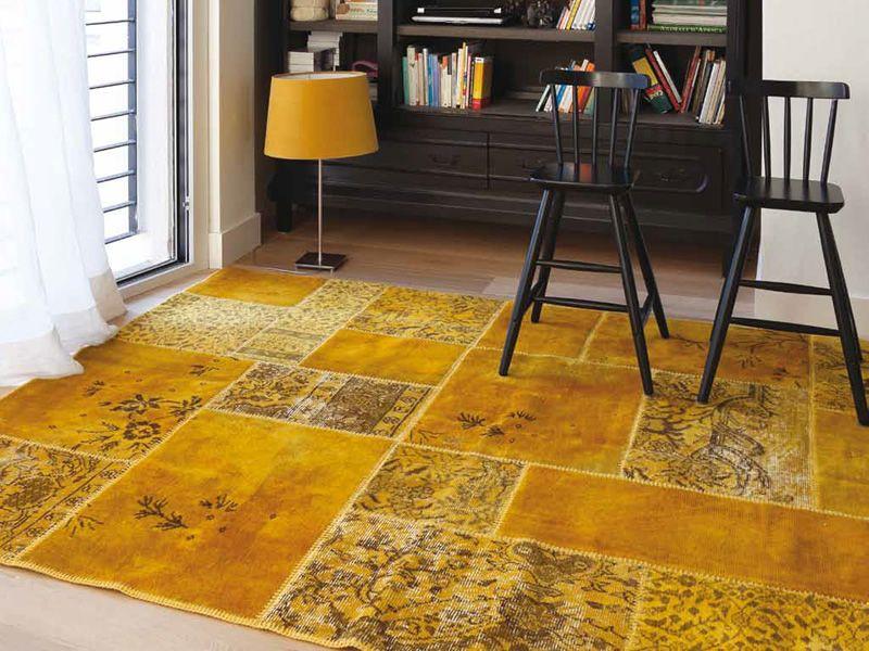 Preferenza Antalya Yellow - Tappeto moderno in pura lana vergine - Sediarreda NE09