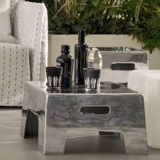 InOut 45-46 In - Tavolino-Pouf Gervasoni, in alluminio, disponibile in diverse dimensioni