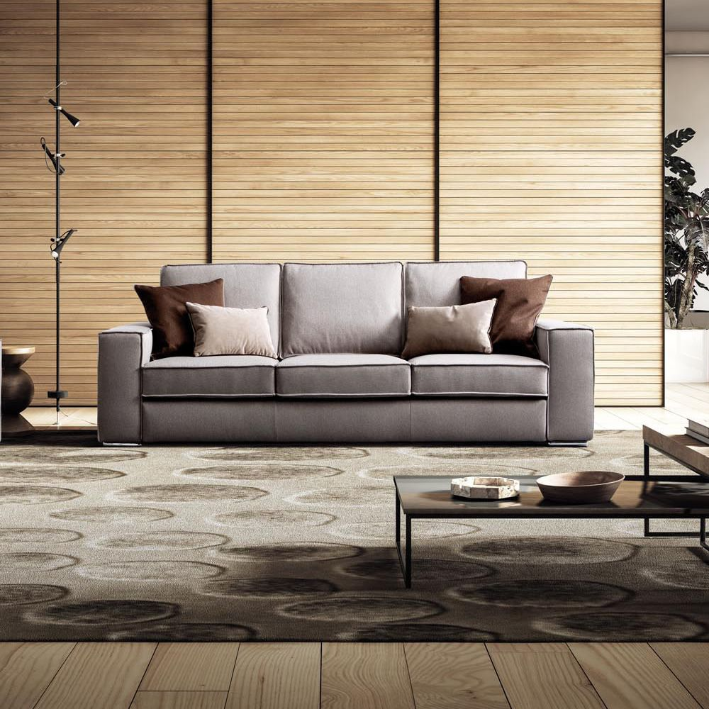Simba divano moderno a 2 posti 3 posti o 3 posti maxi for Divano con mobile incorporato
