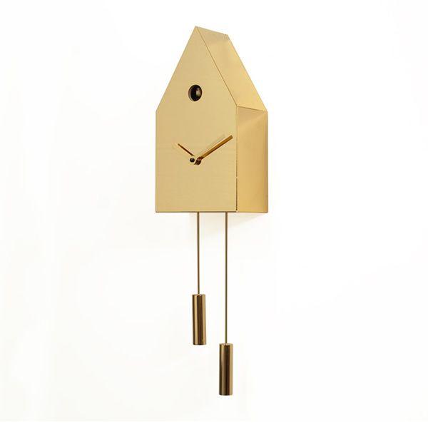 24k horloge coucou de design en m tal disponible en. Black Bedroom Furniture Sets. Home Design Ideas