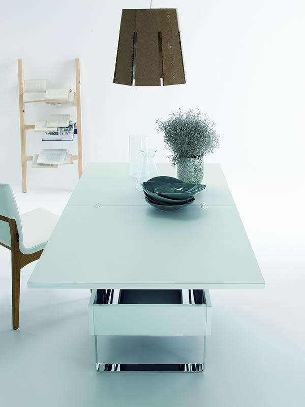 Giove mesita de centro transformable en mesa de comedor for Mesa comedor transformable