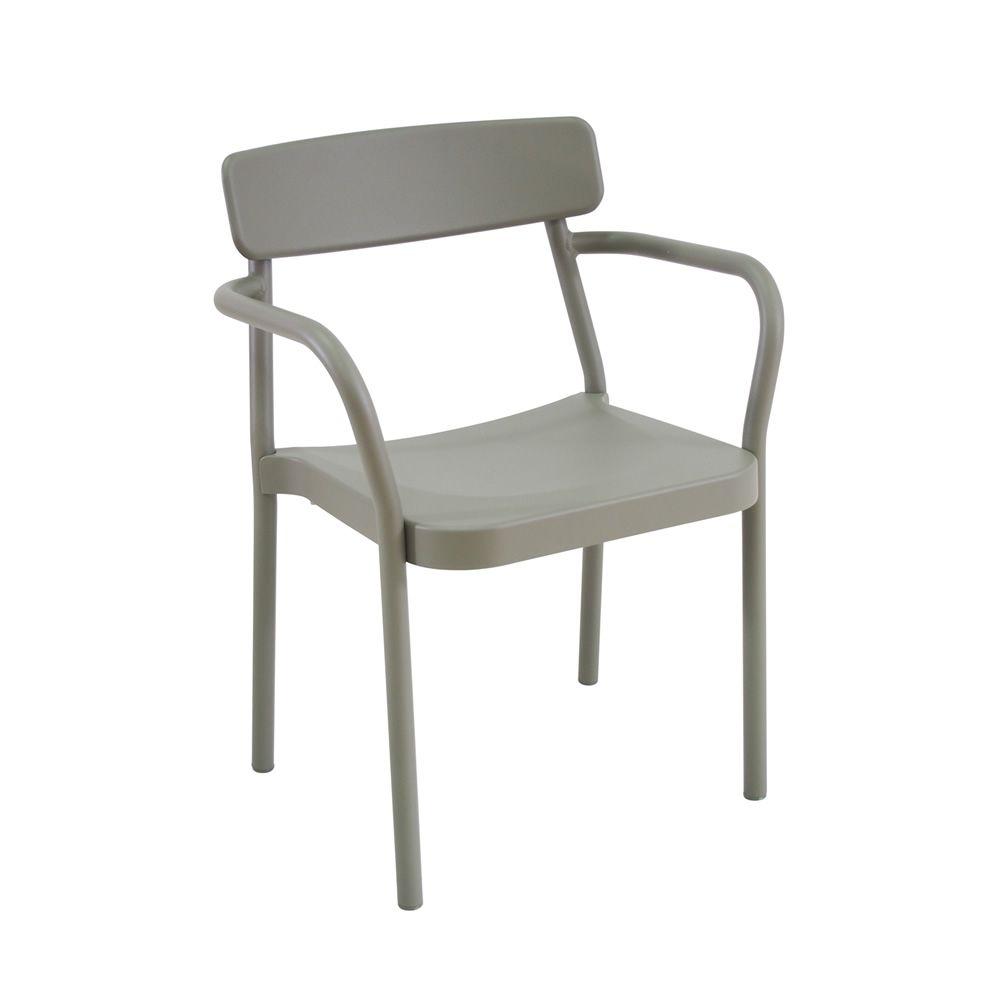 Grace p fauteuil emu en aluminium empilable plusieurs for Chaise empilable