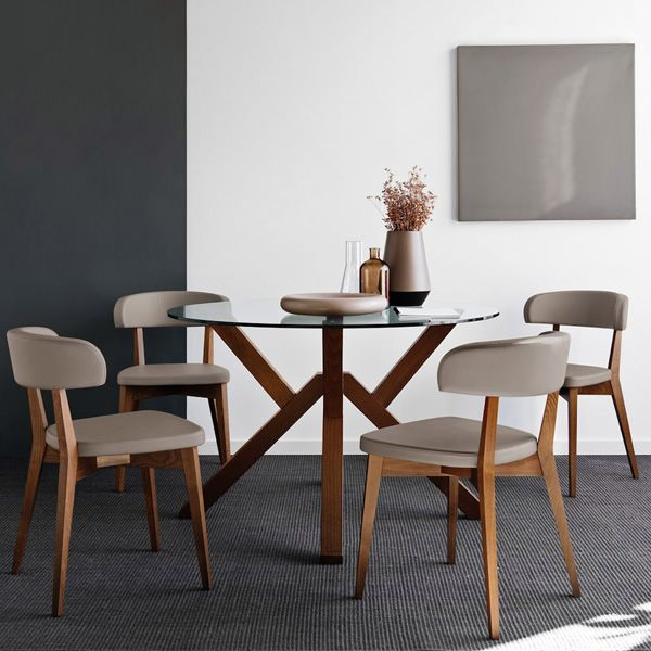 Cb4728 mikado tavolo in legno connubia calligaris con piano tondo in vetro diametro 120 o - Sedie in legno design ...