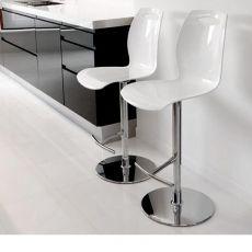 Bip - SS - Sgabello Colico, girevole e regolabile, seduta in tecnopolimero colorato